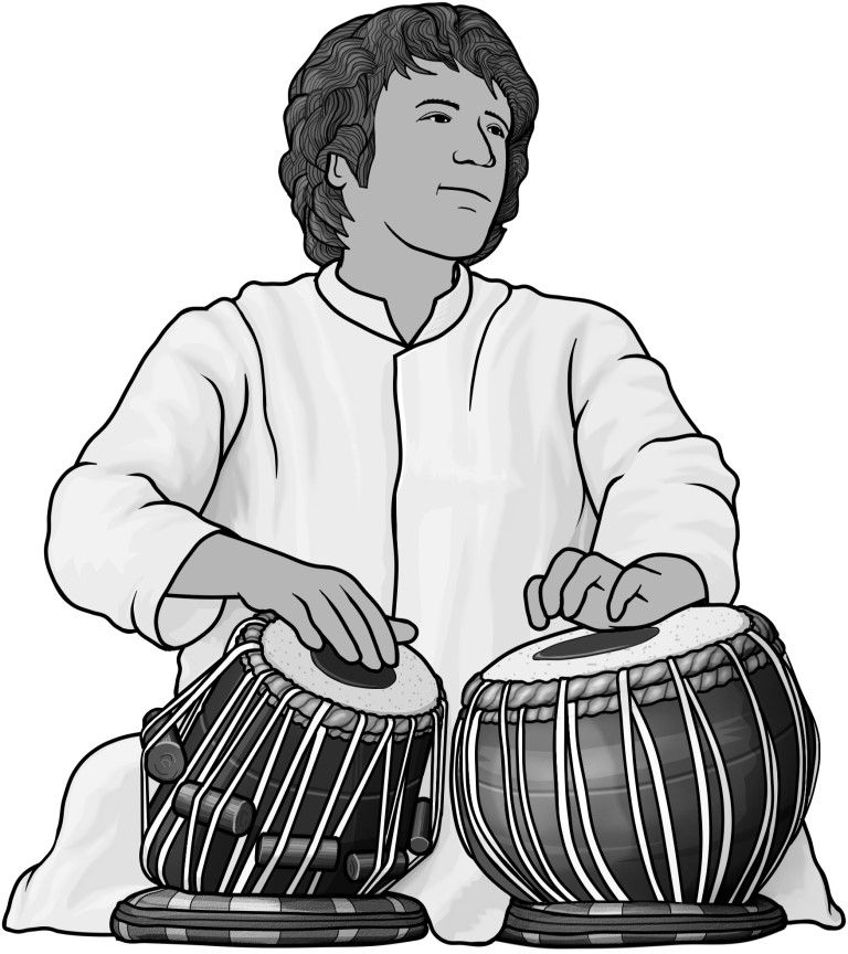Royalty free clipart illustration of a grayscale design.