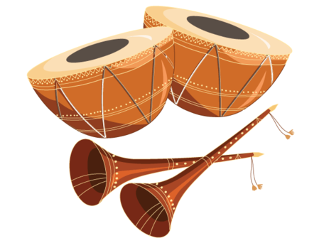 Tabla with Shehnai Free - Tabla Clipart
