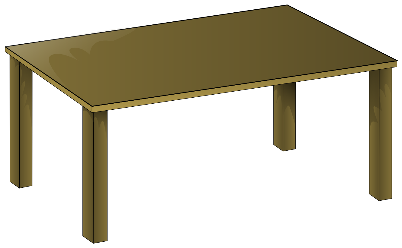 table and chairs clipart top view