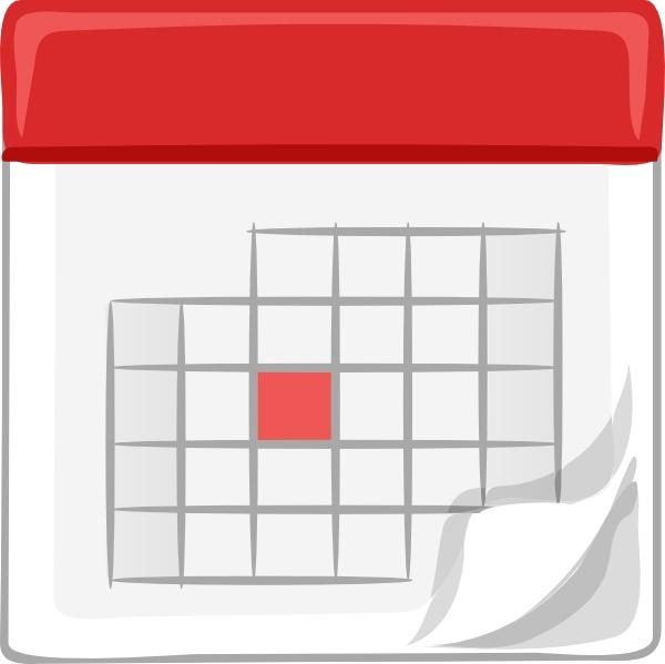 Table Calendar clip art Free .