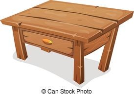 . ClipartLook.com Wood Little Table - Illustration of a cartoon funny wooden.