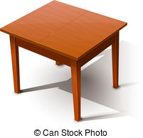 . ClipartLook.com Wooden table. Eps10 vector illustration. Isolated on white.