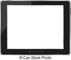 . ClipartLook.com Black Generic Tablet P-. ClipartLook.com Black generic tablet pc on white background. vector-3