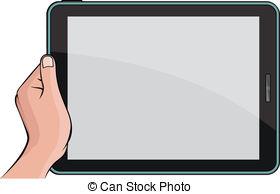 . ClipartLook.com Hand Holding Digital T-. ClipartLook.com Hand holding digital tablet PC-8