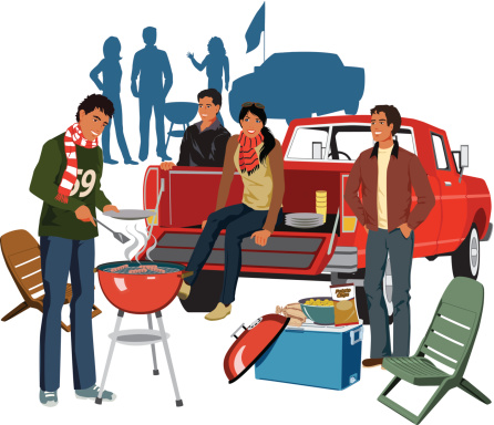 Tailgate Party C Vector Art .-Tailgate Party C vector art .-17