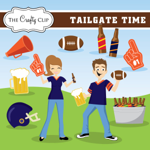 Tailgate Time Vector Clip Art ...-Tailgate Time Vector Clip Art ...-19