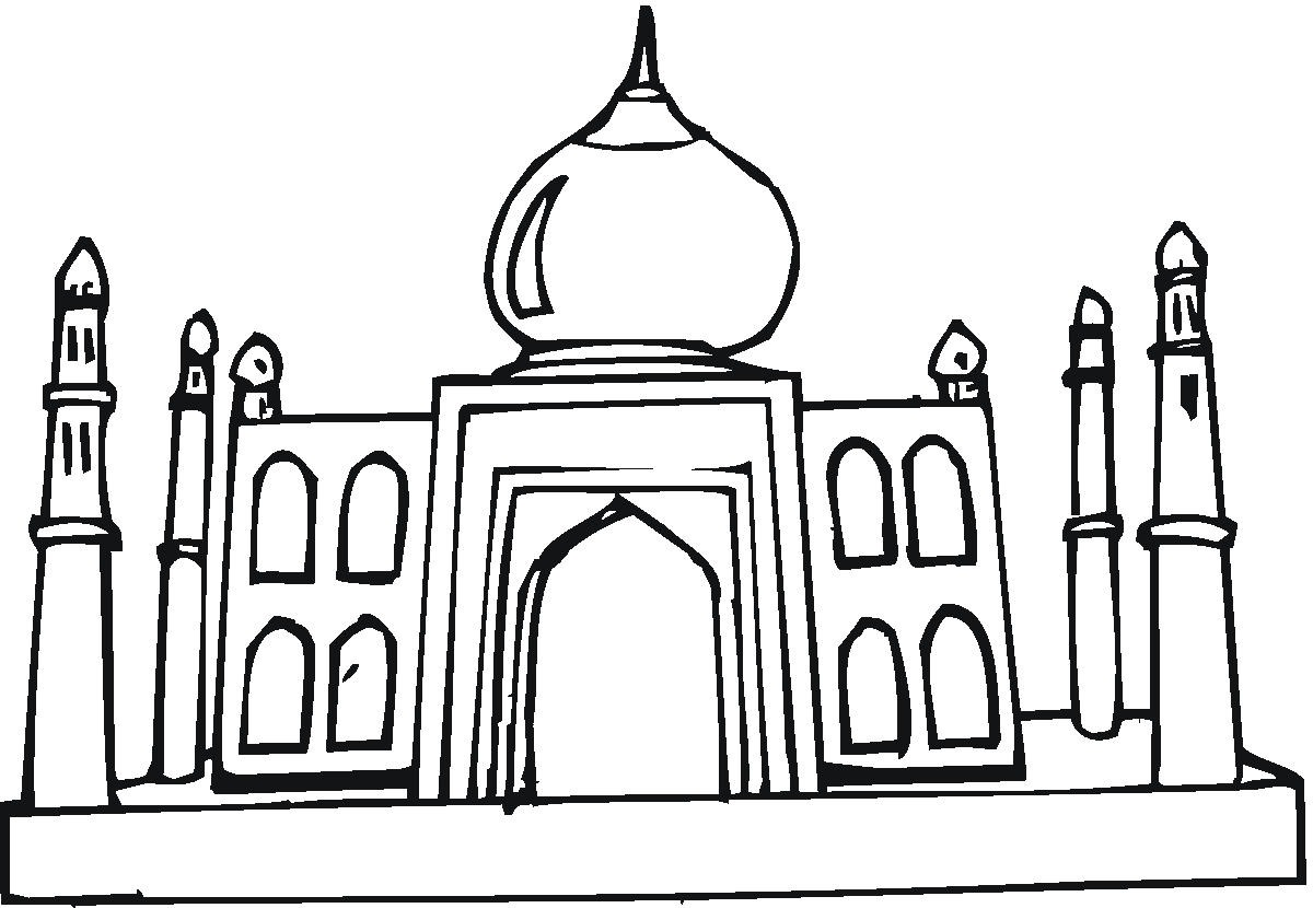 Taj Mahal Clipart Cliparts Co - Taj Mahal Clipart