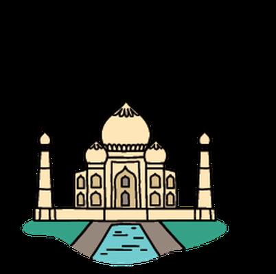 Landmarks - Taj Mahal | Clipart-Landmarks - Taj Mahal | Clipart-5