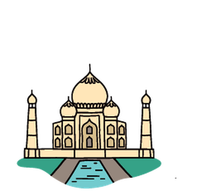 Landmarks - Taj Mahal | Clipa - Taj Mahal Clipart