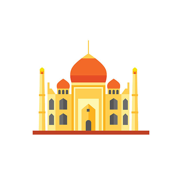 Taj Mahal Icon vector art illustration