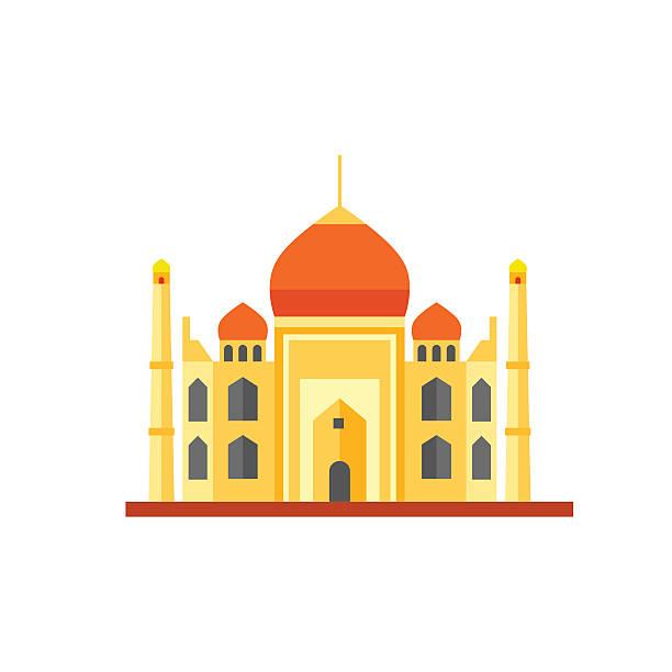 Taj Mahal Icon Vector Art Illustration-Taj Mahal Icon vector art illustration-1