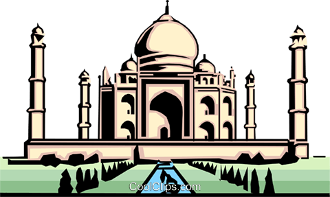 Taj Mahal Royalty Free Vector Clip Art illustration