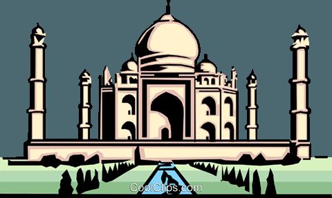 Taj Mahal Royalty Free Vector Clip Art I-Taj Mahal Royalty Free Vector Clip Art illustration-3