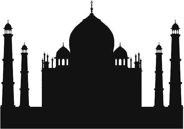 Taj Mahal vector art illustration
