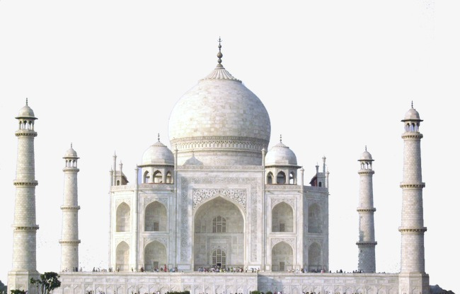 taj mahal, White, Famous Tourist Sites PNG Image and Clipart
