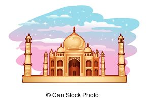 ... Taj Mahal - Illustration of Taj Maha-... Taj Mahal - Illustration of Taj Mahal with blue purple sky-4