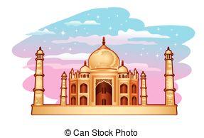 ... Taj Mahal - Illustration Of Taj Maha-... Taj Mahal - Illustration of Taj Mahal with blue purple sky Taj Mahal Clipartby ...-13