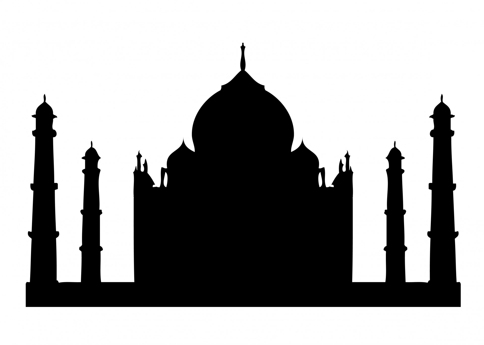 Taj Mahal Silhouette Clipart - Taj Mahal Clip Art
