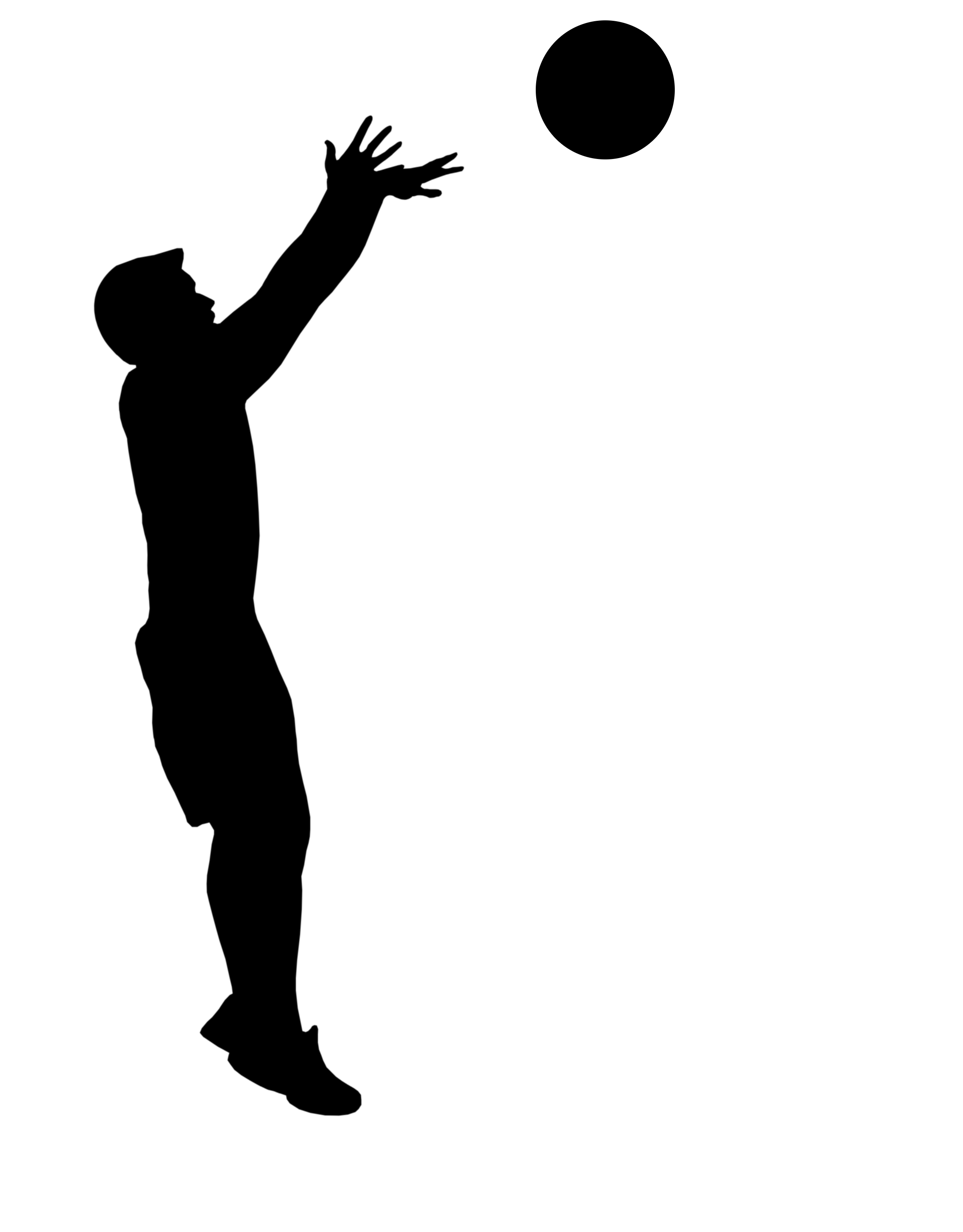 take the shot basketball player shooting clipart