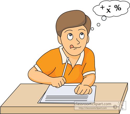 Taking A Math Test Clipart #1-Taking A Math Test Clipart #1-15