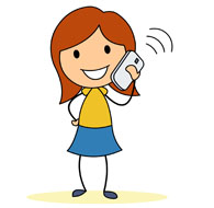Talking On Phone Clipart. Free Communication Clipart .