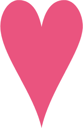 Tall Skinny Pink Heart