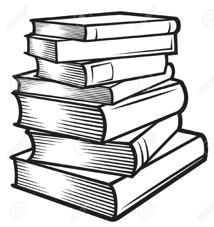 Tall Stack Of Books Clip Art ..