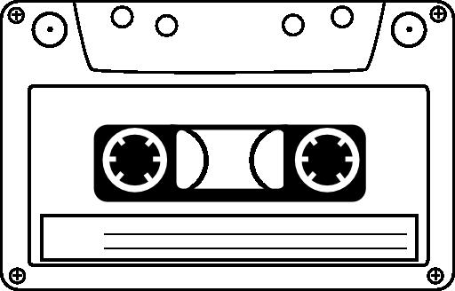 Tape Cassette Clipart