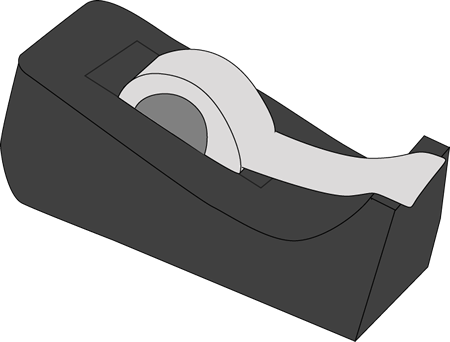 Tape Dispenser Clip Art Image Black Tape Dispenser With Stoch Tape