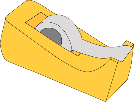 Tape Dispenser - School Supply Clipart