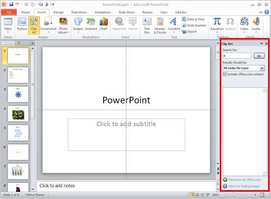 Task Pane Powerpoint