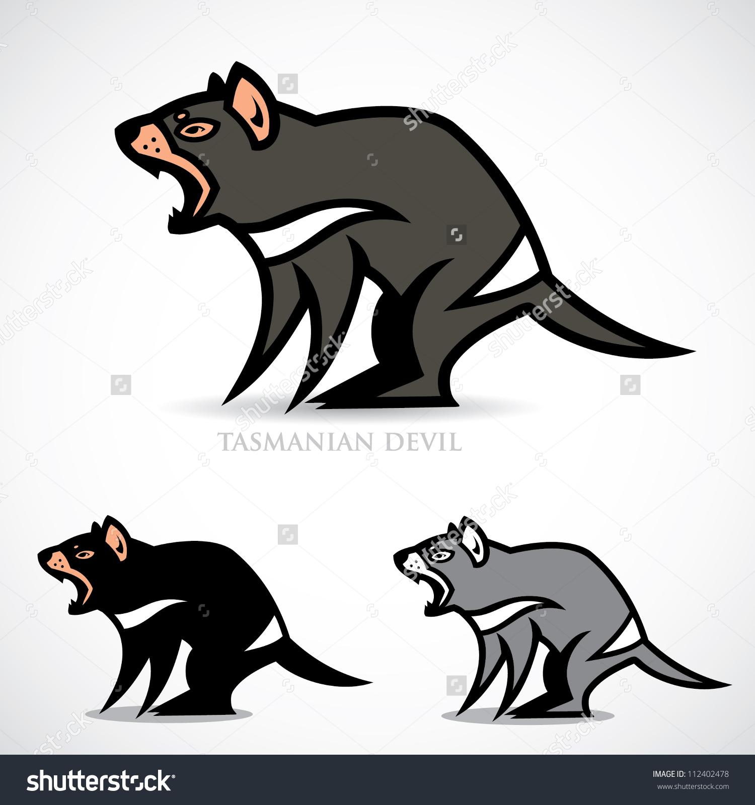 Tasmanian Devil - Vector Illustration-Tasmanian devil - vector illustration-17