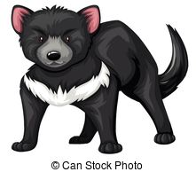 ... Tasmanian Devil With Black Fur Illus-... Tasmanian devil with black fur illustration-19