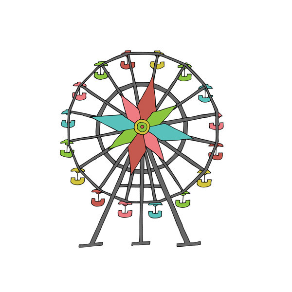 Tattly™ Designy Temporary Tattoos. u20-Tattly™ Designy Temporary Tattoos. u2014 Ferris Wheel. couple_on_ferris_wheel clipart ...-15