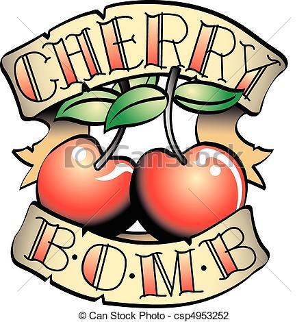 . ClipartLook.com Tattoo Design Cherry B-. ClipartLook.com Tattoo Design Cherry Bomb Clip Art - Tattoo design of two.-11