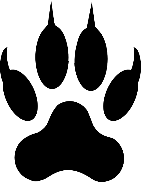 Tattoo Doomain Paw Tattoos; Cat Claw Clip Art; True Blue Paw Print clip ...
