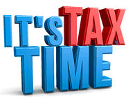 Tax Time. Isolate text abstract 3D concept Royalty Free Stock Photos