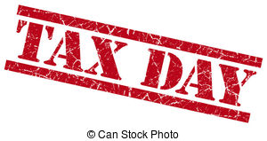 tax day Clipartby ajfi0/49; tax day red square grunge textured isolated stamp