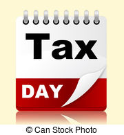 ... Tax Day Indicates Irs Reminder And Planner - Tax Day.