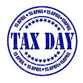 tax day u0026middot; Tax day stamp