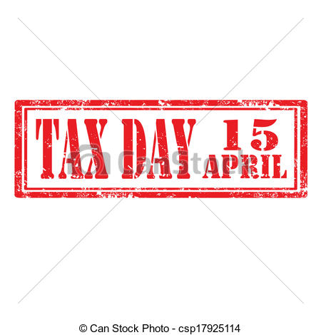 Tax Day-stamp - csp17925114