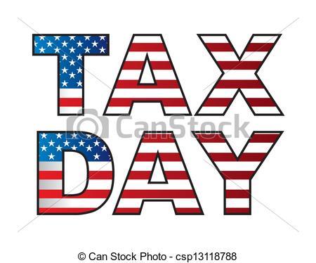 tax vector - tax day .