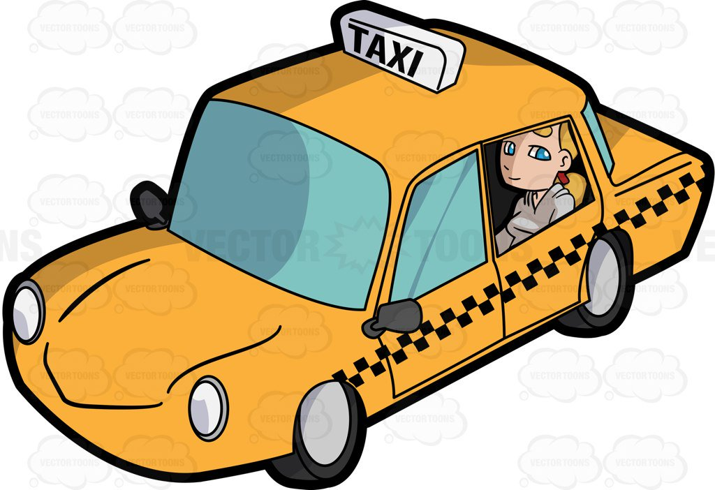 A Young Woman Inside A Taxi Cab-A young woman inside a taxi cab-3