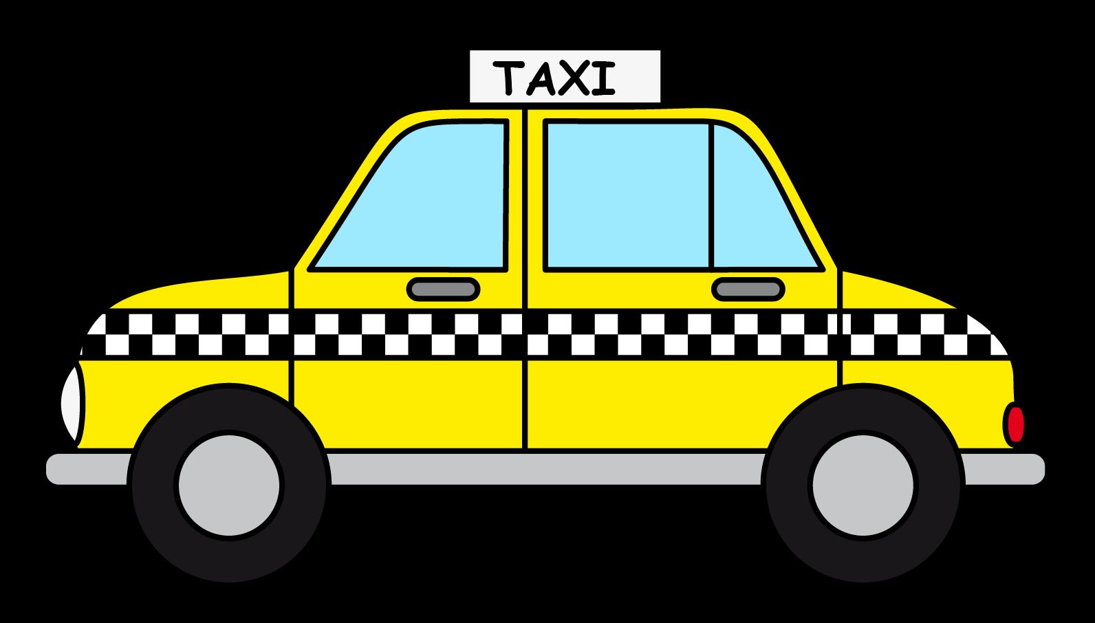 Cab Clipart: Cartoon Taxi Cab Clip Art-Cab clipart: cartoon taxi cab clip art-4