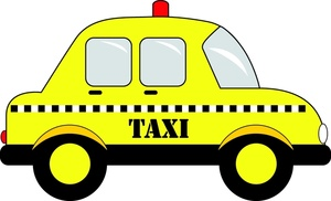 Taxi Clipart Image: Yellow Taxi Cab In T-Taxi Clipart Image: Yellow taxi cab in the city-18