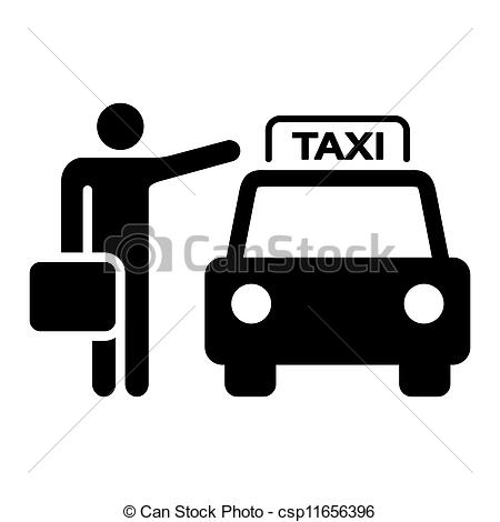 Taxi Sign Silhouette - csp11656396