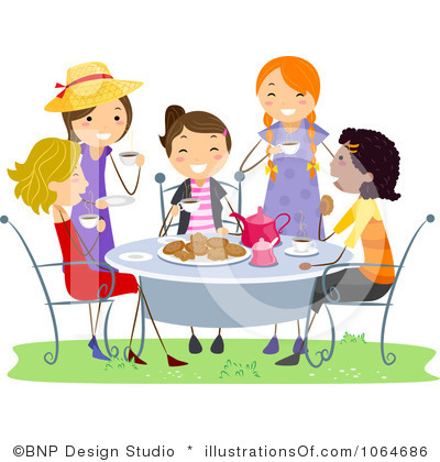 Tea Party Clip Art Item 4 .-Tea Party Clip Art Item 4 .-17