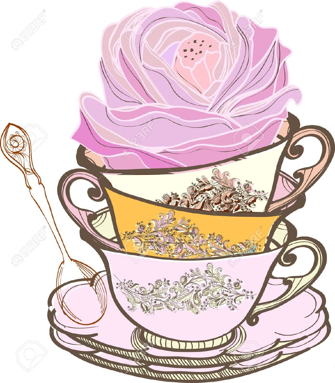 Tea Party , Tea Cup Background .-tea party , tea cup background .-18