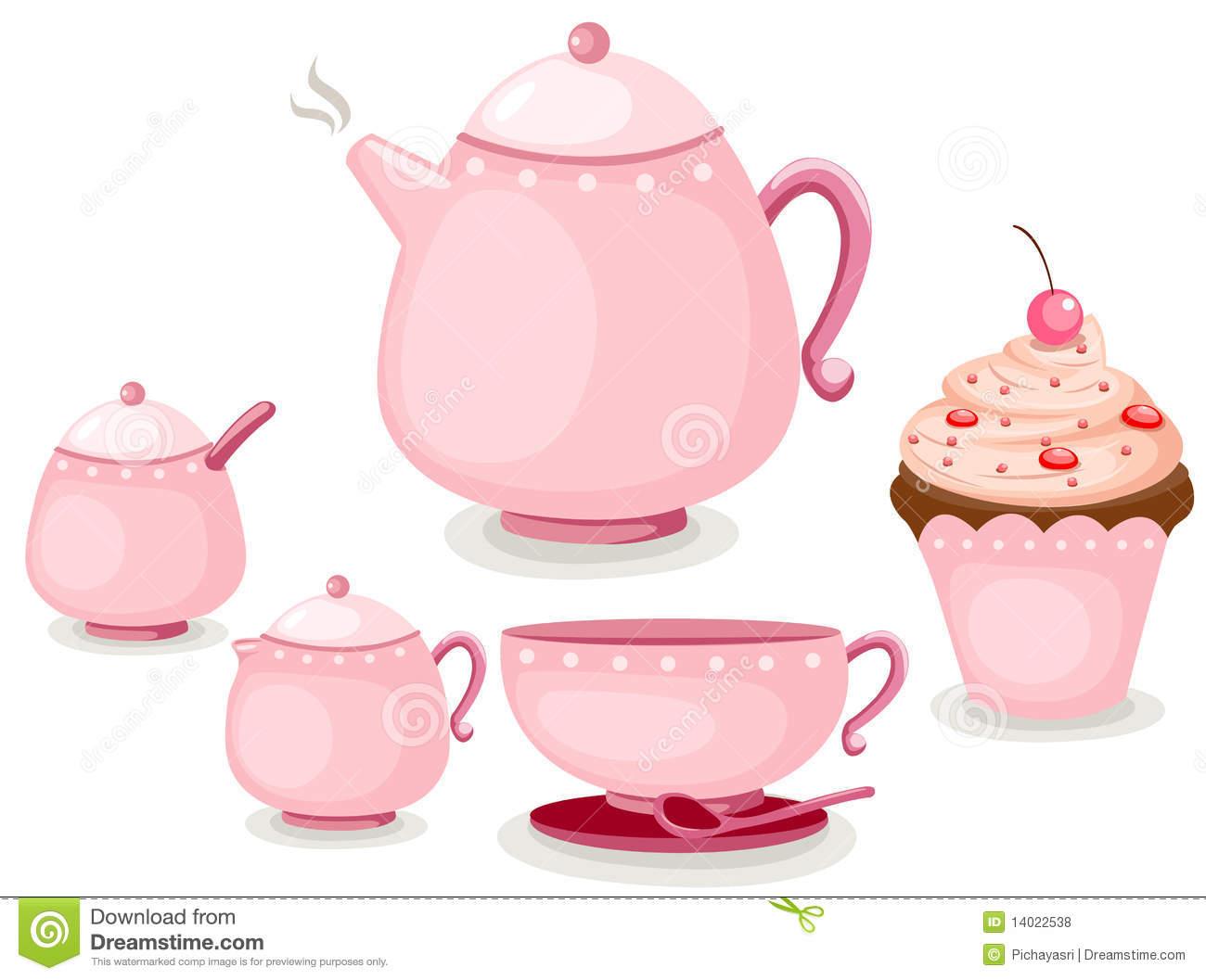 Coffee Set Or Tea Set And Cup Cake-Coffee set or tea set and cup cake-5
