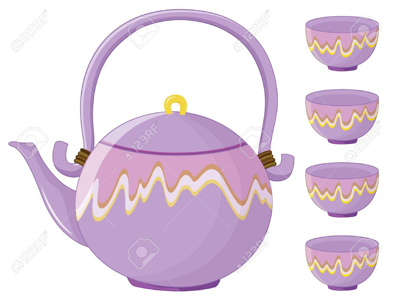 Illustration Of An Asian Tea Set Stock V-Illustration of an asian tea set Stock Vector - 13930678-7